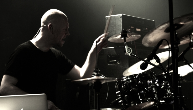 Lieber beating the shit out of his drumkit!